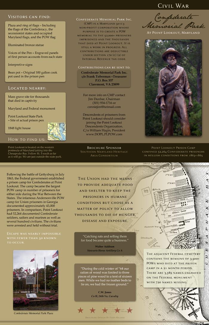 Tri-fold brochure for a park (2011)
