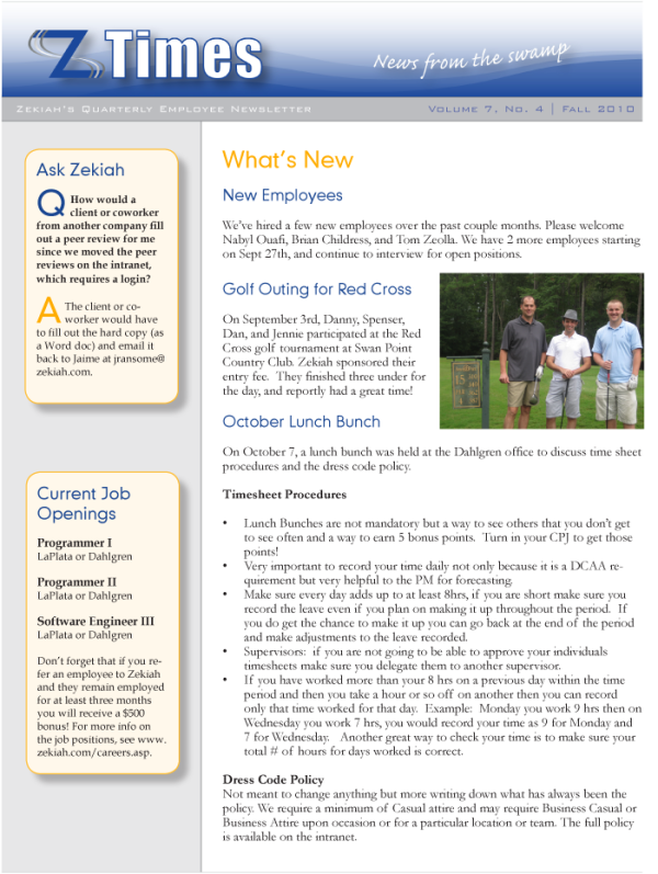 Employee Newsletter (2010)